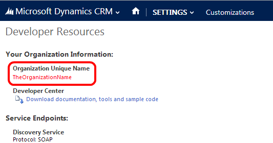 How to find organization unique name in CRM 2013 / 2015 ...